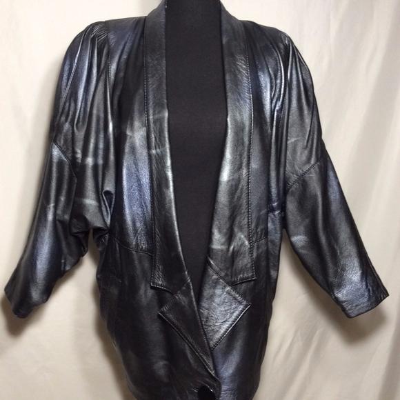 Echtes Leder Jackets & Blazers - Echtes Leder Baggy Vegan Leather Jacket